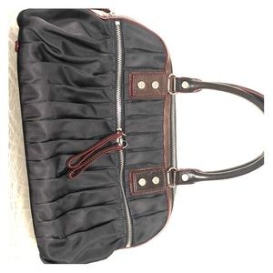 MZ Wallace Bea bag in navy and maroon